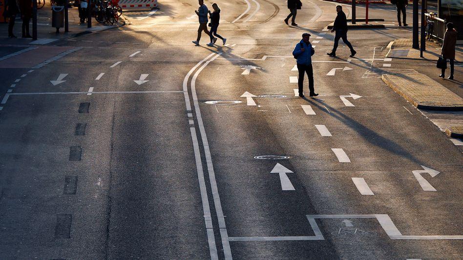 Straßenszene in Köln, 17. März 2020