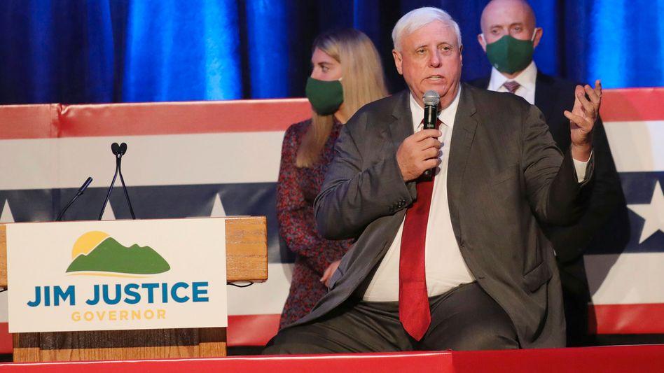 US-Gouverneur Jim Justice bei einer Feier seiner Wiederwahl