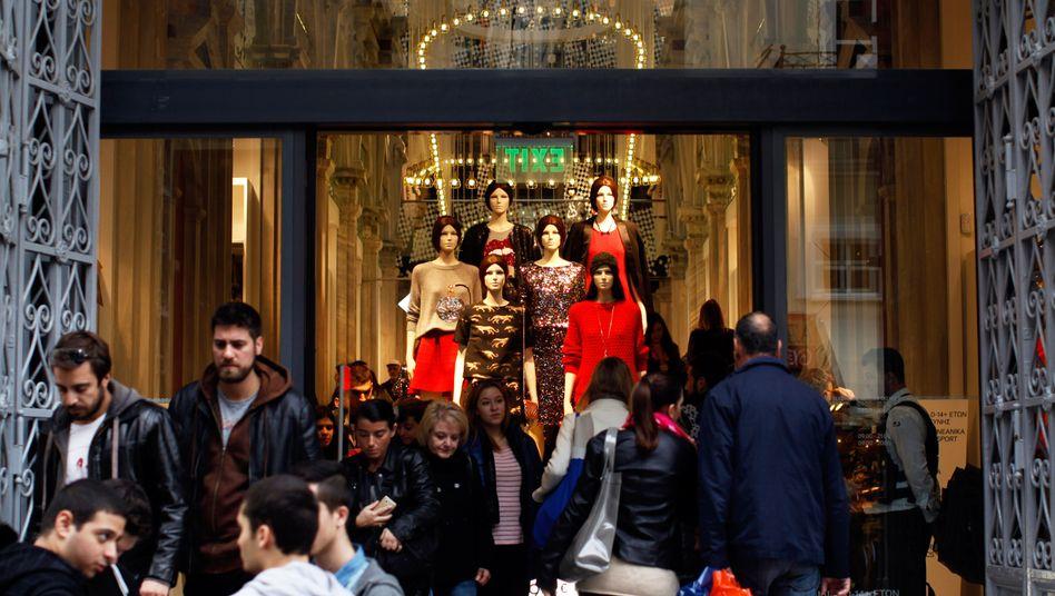 Einkaufsstraße in Athen: Die Arbeitsmärkte werden flexibler
