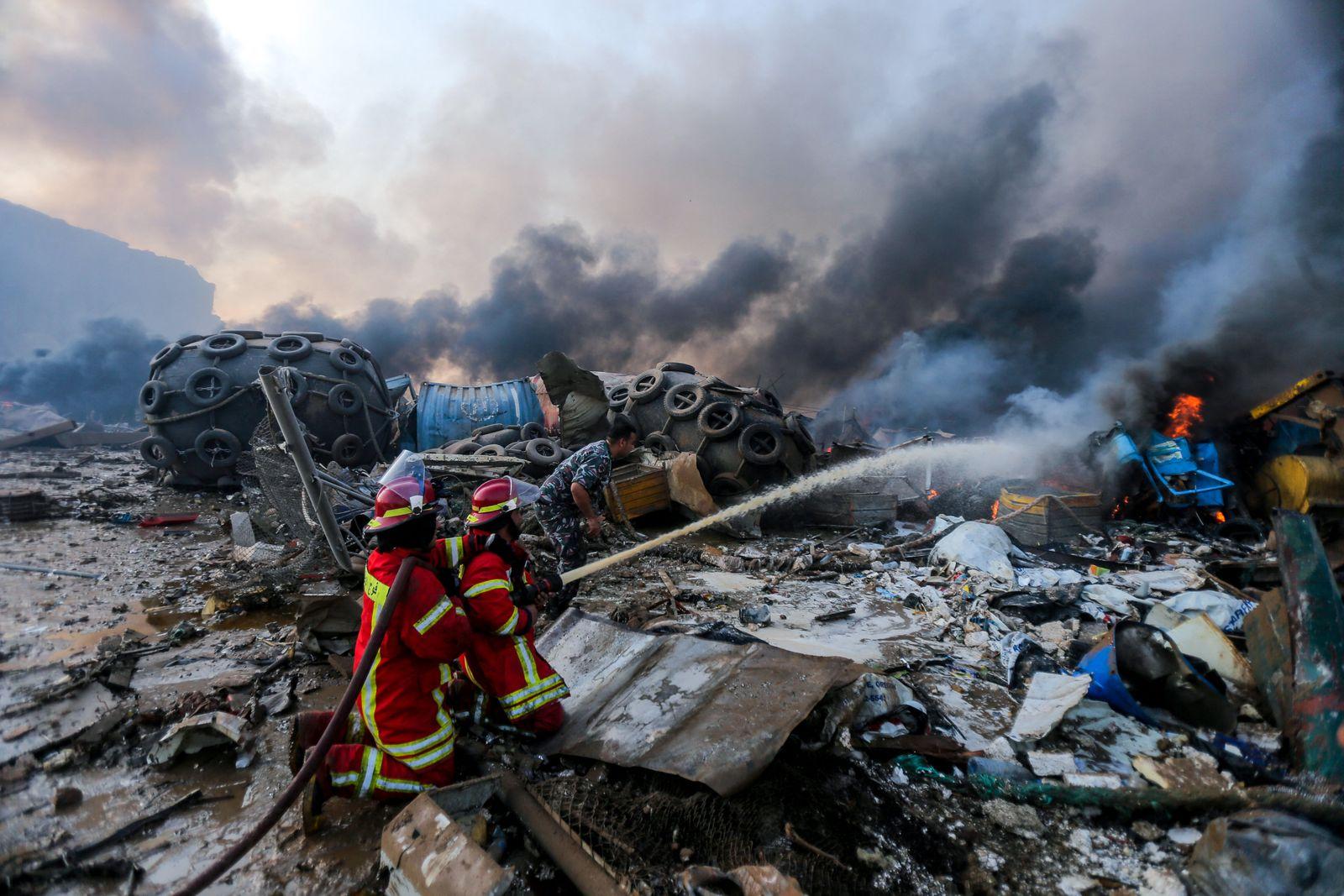 Aftermath Of A Huge Blast - Beirut