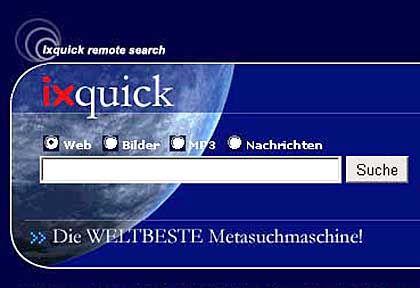 Ixquick: Klasse Metasuche, durchwachsene Zusatzdienste