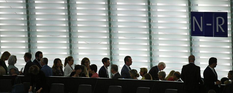 Abgeordnete des EU-Parlaments in Straßburg (Archivbild)