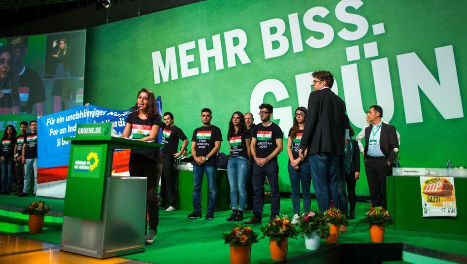 Grünen-Parteitag in Hamburg mit kurdischen Aktivisten: Abrüsten bei Asyl