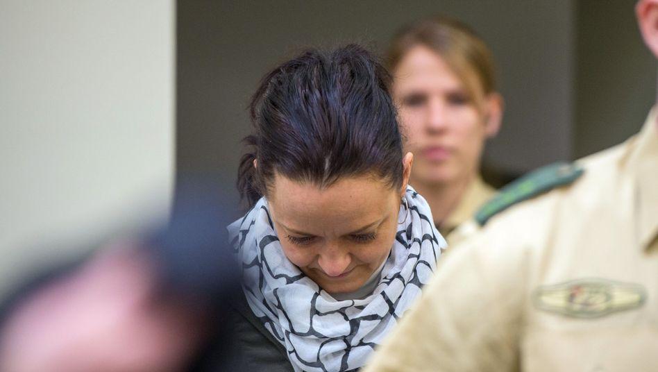"""Beate Zschäpe vor Gericht (im Februar 2013): """"Sie war eine sehr gute Zuhörerin"""""""