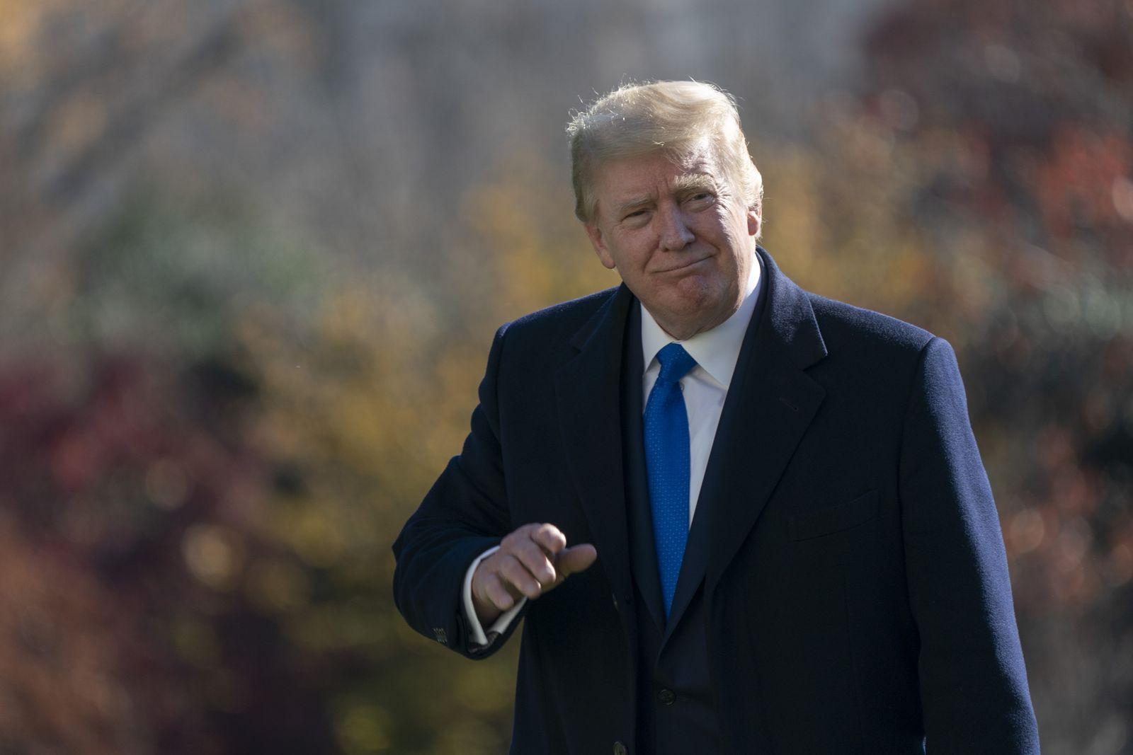 US President Donald J. Trump returns to the White House, Washington, USA - 29 Nov 2020