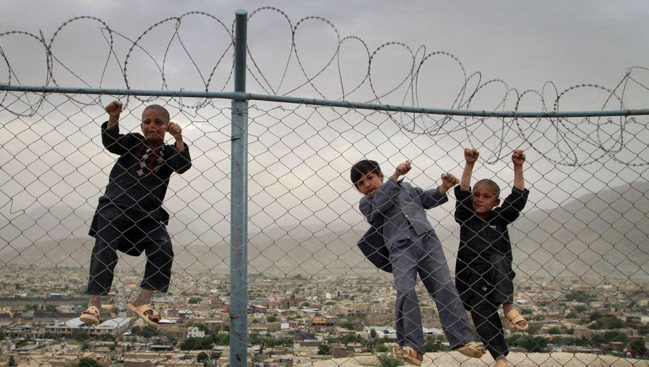 Afghanische Kinder in Kabul (Archivbild)