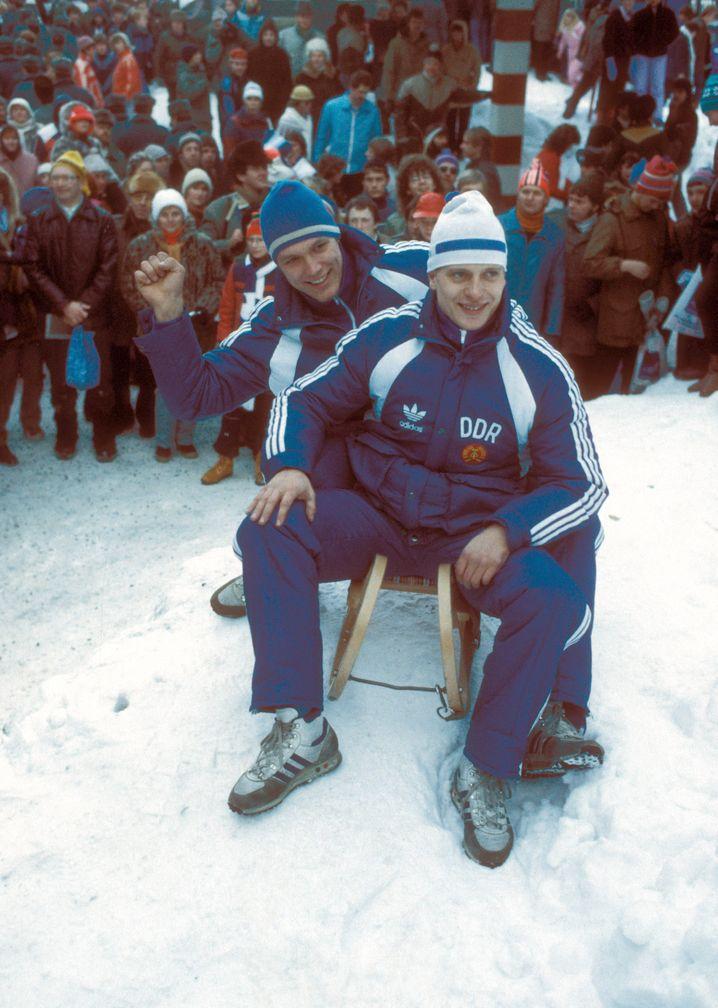 Jochen Pietzsch (vorn) und Jörg Hoffmann 1985