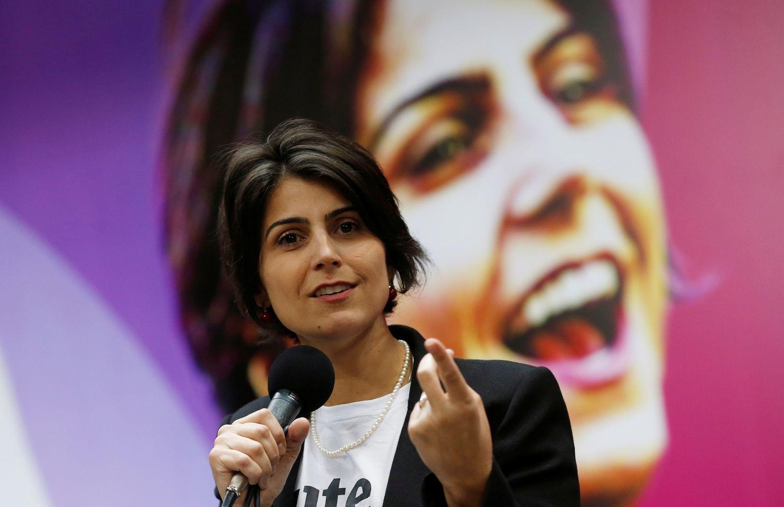 D'Avila, candidate for Brazil's presidency, speaks during the National Convention of the PC do B in Brasilia