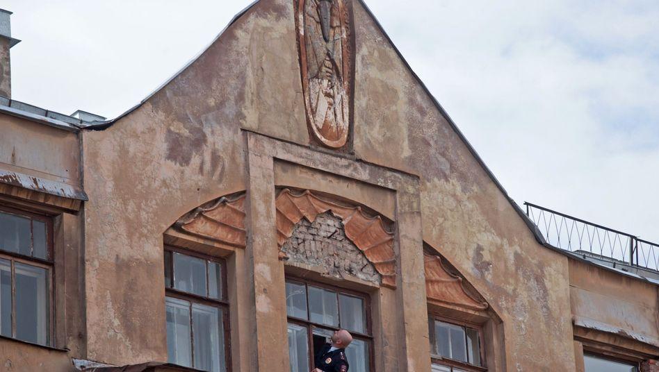"""Zerstörtes Relief: """"Unverschämter Akt des Vandalismus"""""""
