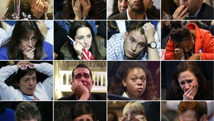 Traurige Demokraten: Was war das denn, Hillary?
