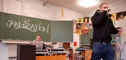 "In der Grundschule am Start: ""Rapucation"" rappen ""Mein Berlin"""