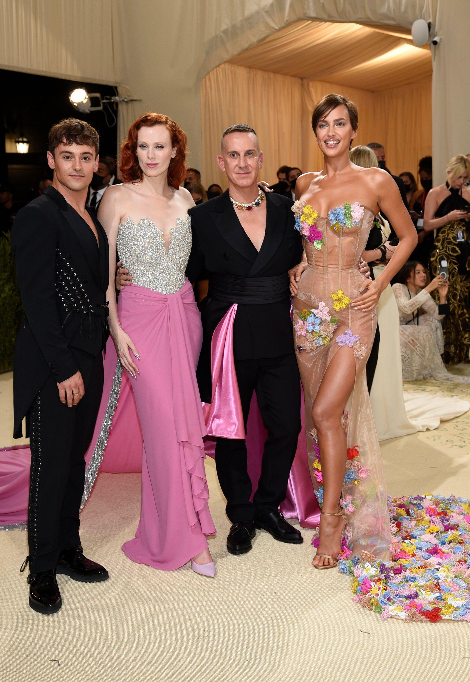 Tom Daley, Karen Elson, Jeremy Scott, Irina Shayk