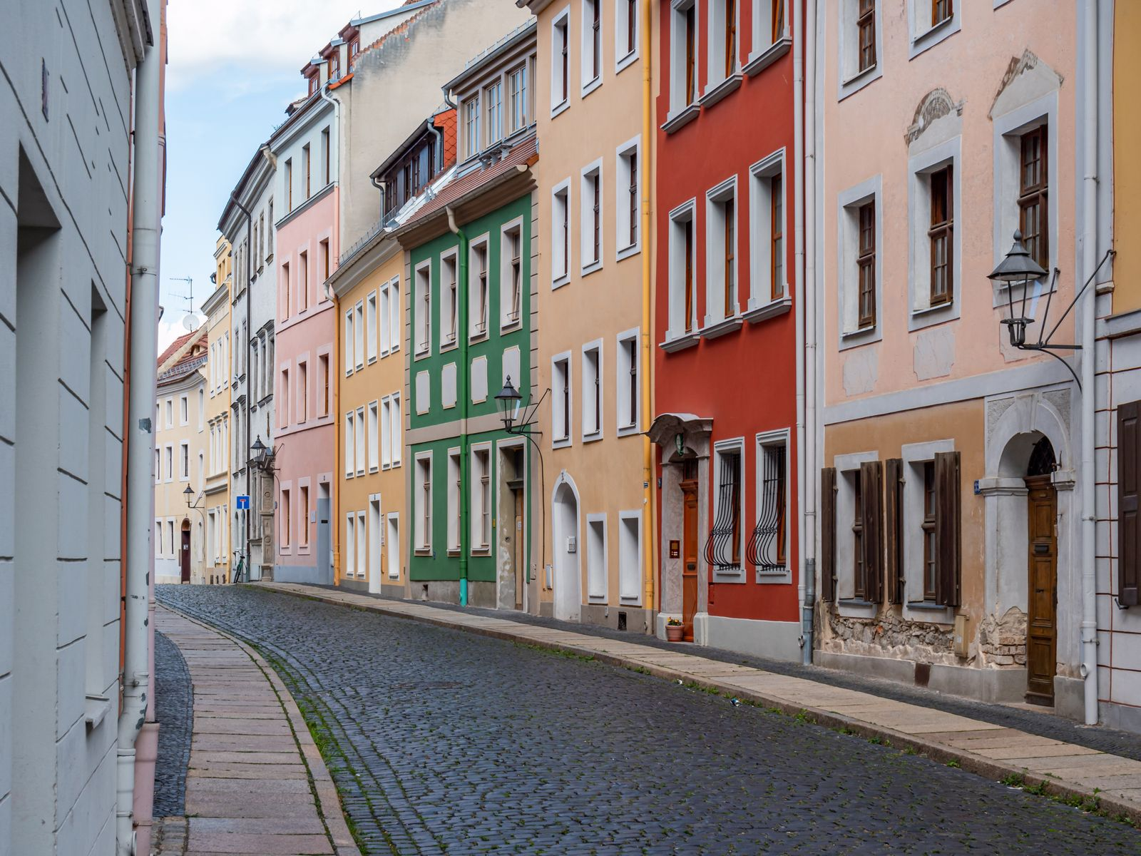 historic alley in Goerlitz, Saxony