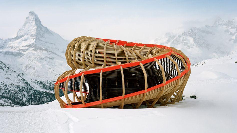 Architektur in der Einöde: Wurst mit Gipfelblick