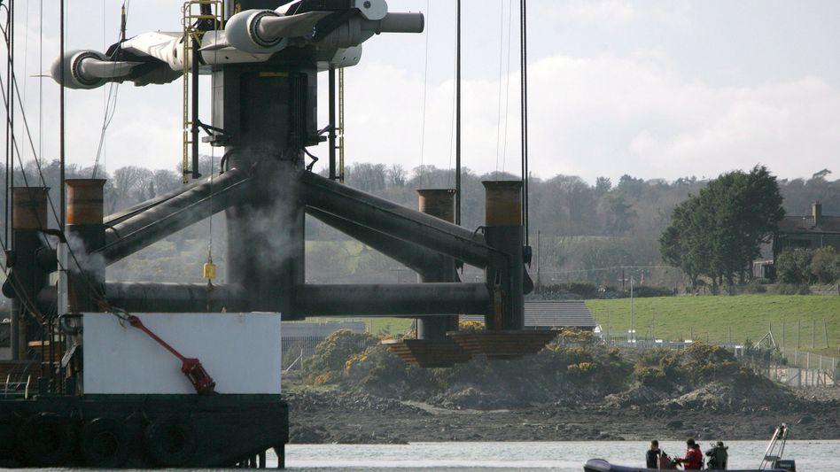 Turbine für das Gezeitenkraftwerk in Strangford: Vorbild für Deutschland?