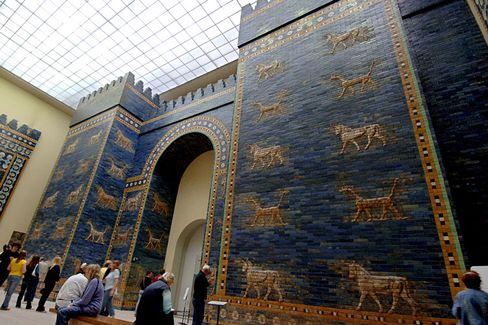 The Walls of Babylon, now at the Pergamon Museum in Berlin.