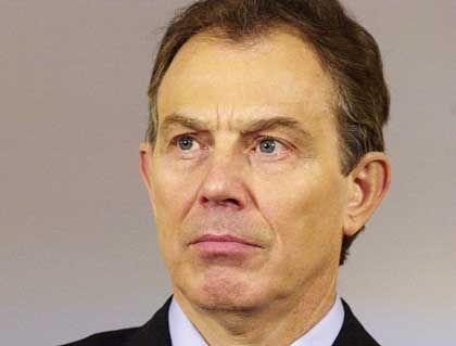 Mal wieder in Bedrängnis: Premier Blair