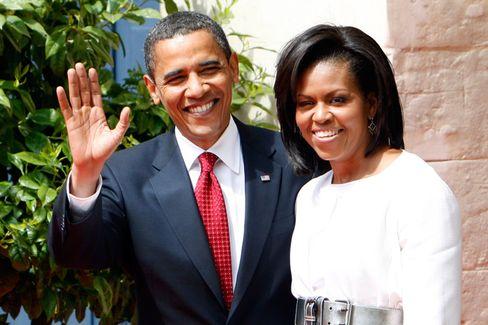 US-Präsident Obama mit Gattin Michelle: Potus und Flotus in Paris