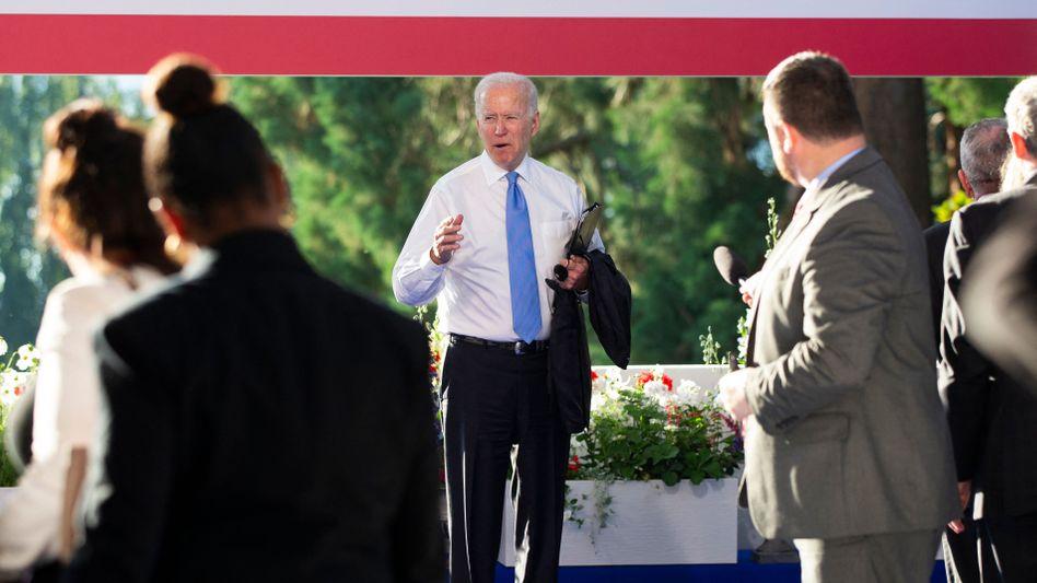 Am Ende der Pressekonferenz in Genf gerät Biden mit einer Journalistin aneinander