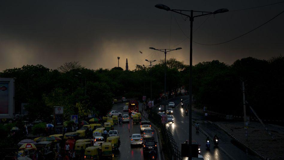 Sturm in Neu-Delhi