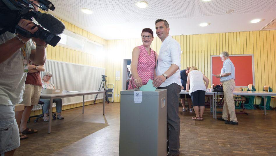 Sachsens SPD-Spitzenkandidat Martin Dulig im Wahllokal