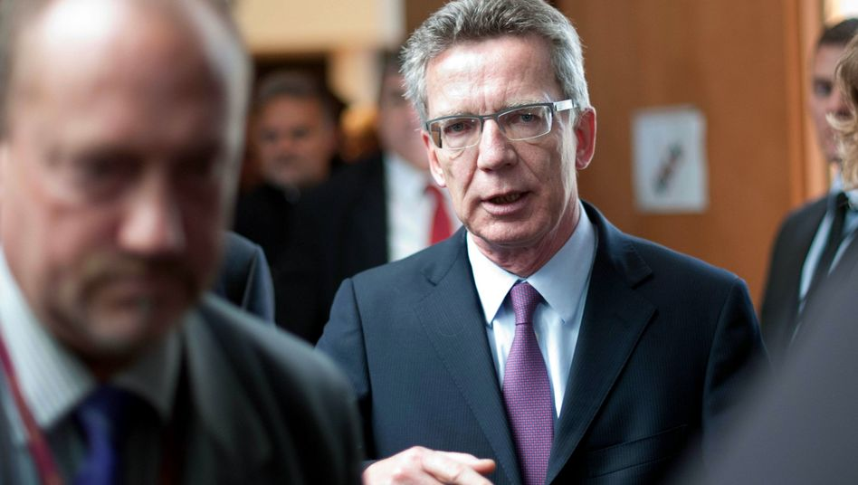 German Defense Minister Thomas de Maizière after giving testimony to a parliamentary committee last Wednesday.