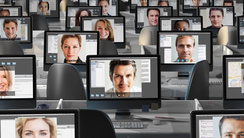 Auf einmal sieht man seine Kollegen nur noch am Bildschirm. Aber auch hier kann die Kommunikation gut klappen