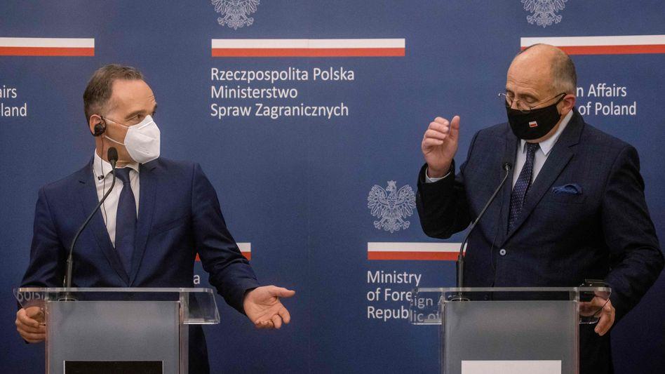 Heiko Maas mit Zbigniew Rau: »Wir halten das nicht für die richtige Strategie«