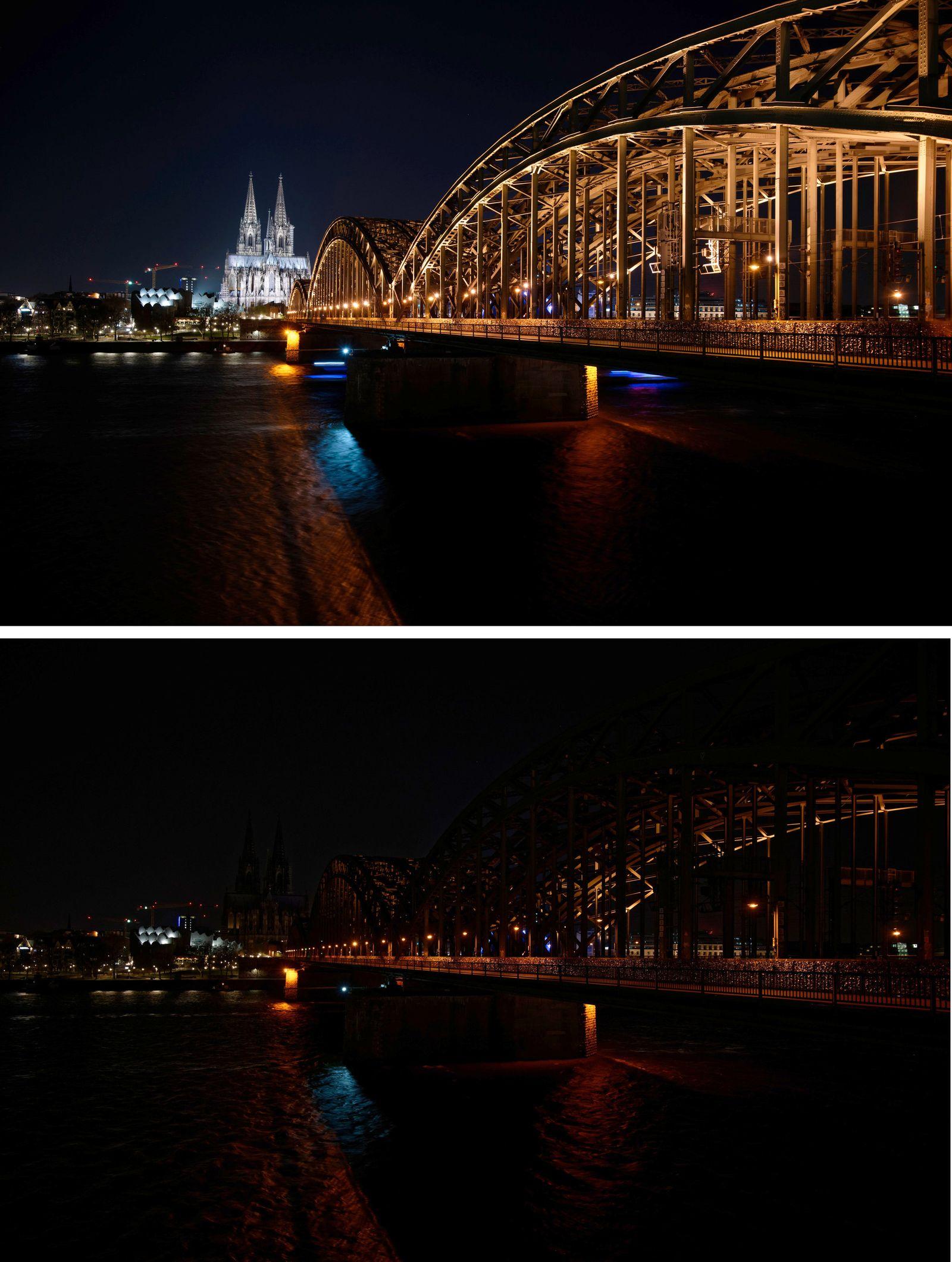"WWF-Aktion ""Earth Hour"" - Köln"