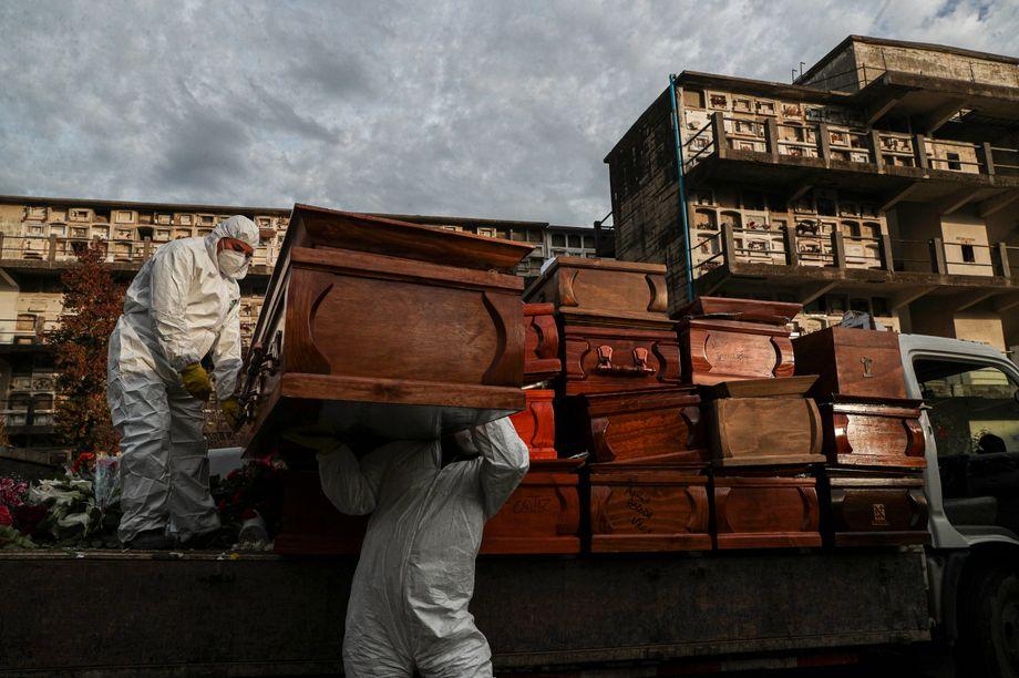Särge für die Corona-Toten: Lateinamerika ist das neue Epizentrum der Pandemie. Chile liegt bei den Infektionszahlen inzwischen auf Platz drei nach Brasilien und Peru