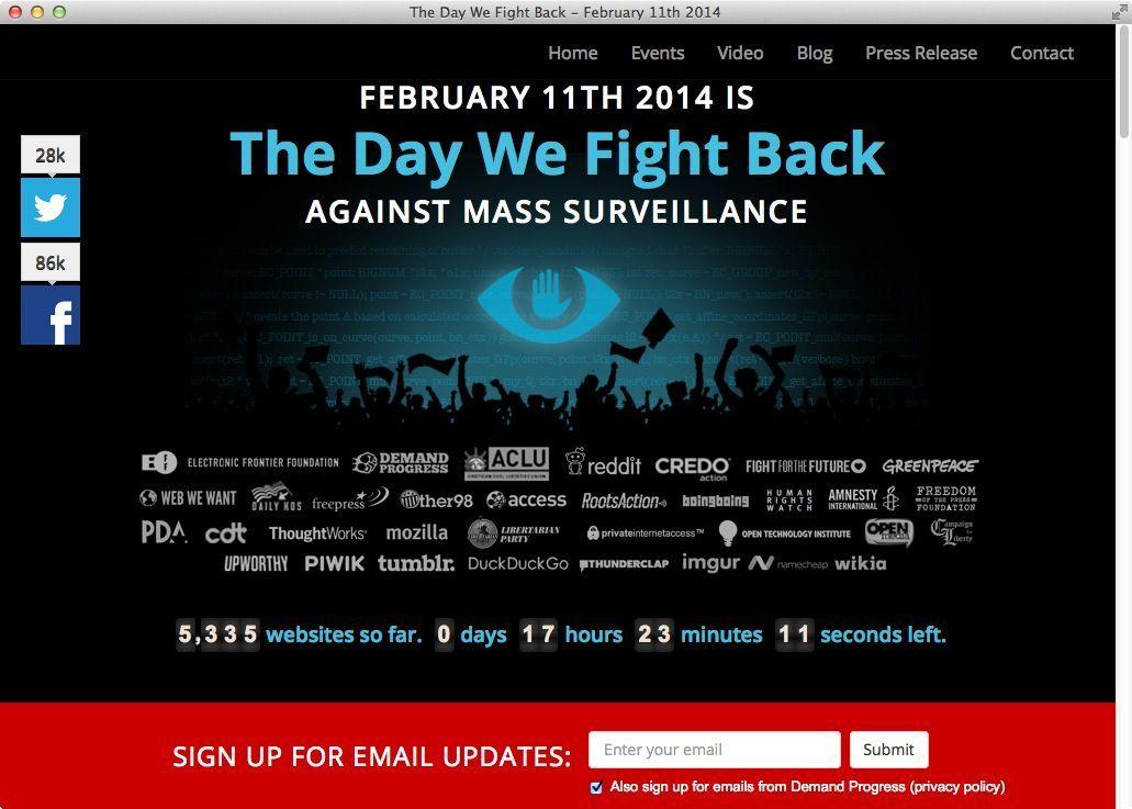NUR ALS ZITAT Screenshot The day we fight back