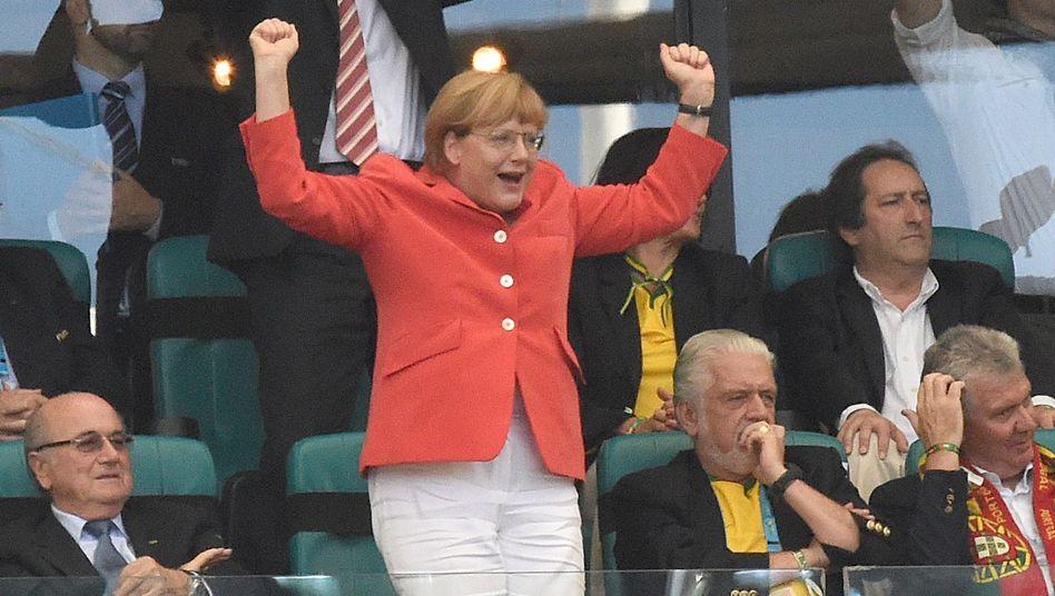 Angela Merkel bei der WM 2014