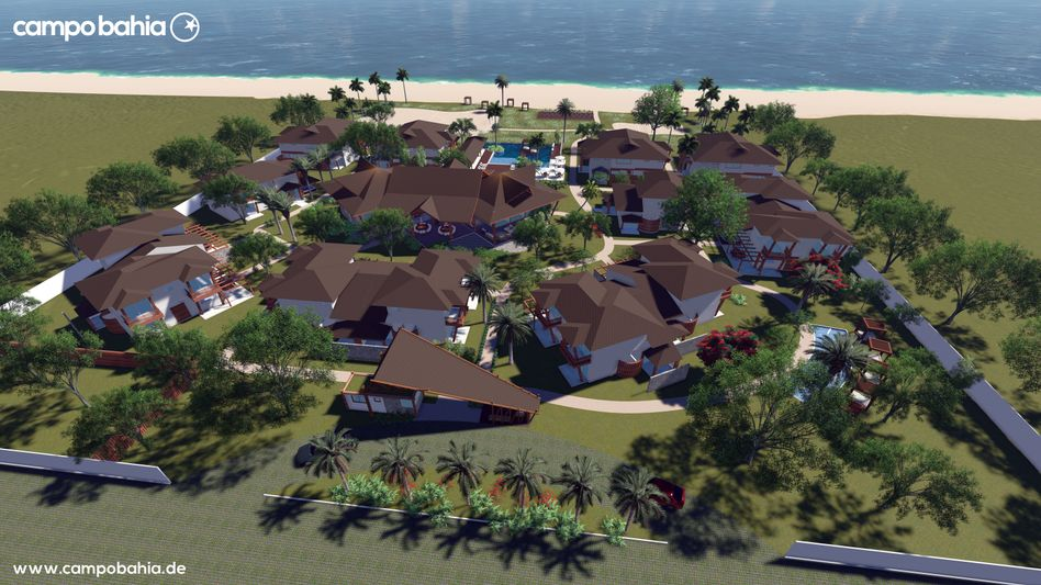 A digital rendering of the luxurious beachside retreat provided by the German Football Association.