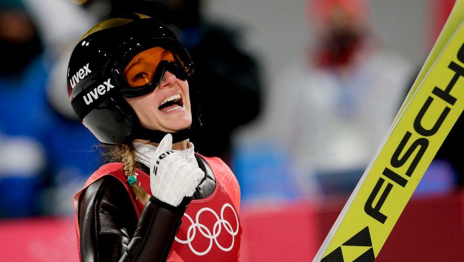 Olympia ja, Vierschanzentournee nein: Angeblich stimmt die sportliche Qualität bei Katharina Althaus und Co. nicht