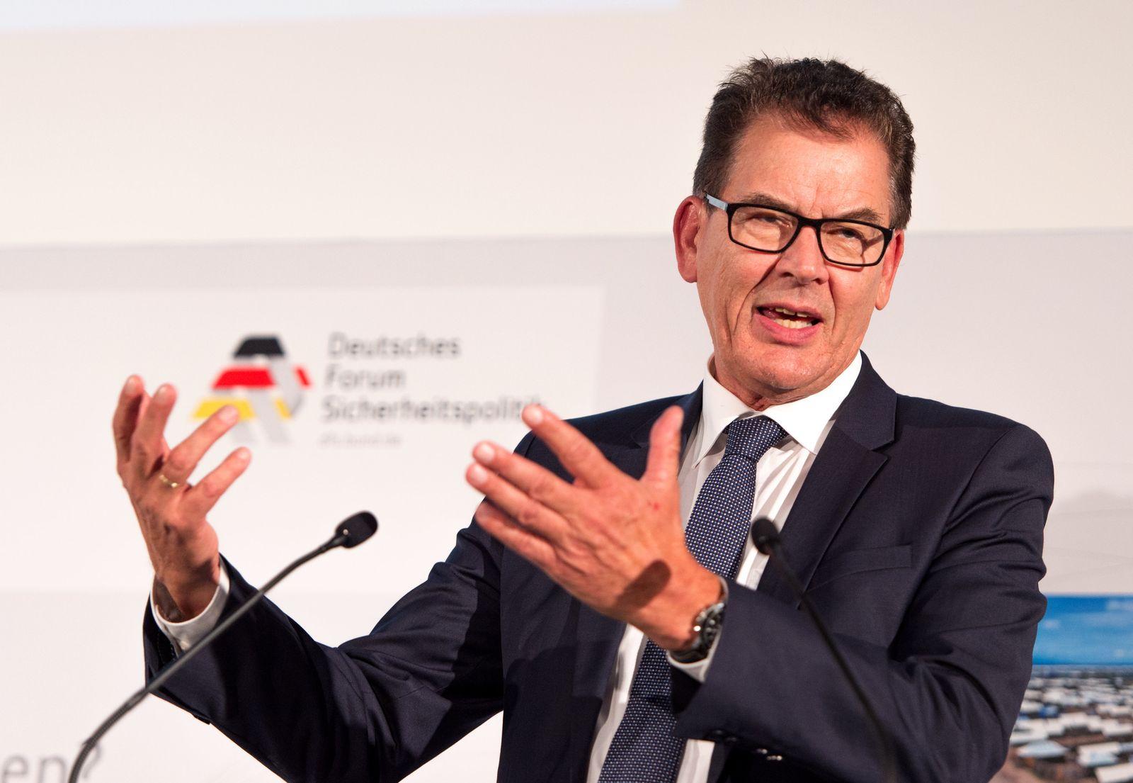 Bundesentwicklungsminister Gerd Müller (CSU)