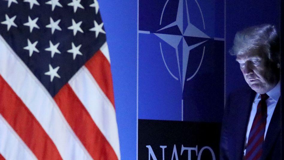 Donald Trump beim Nato-Gipfel in Brüssel (2018)
