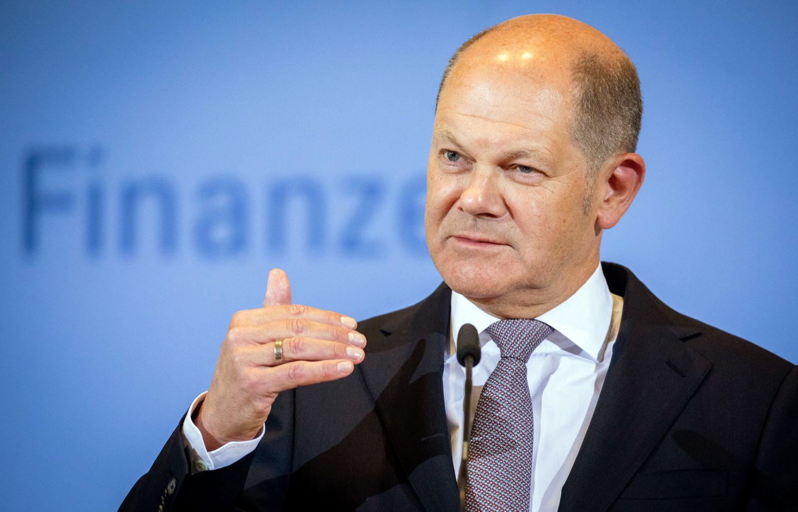 Finanzminister Scholz legt Ergebnisse der Steuerschätzung vor