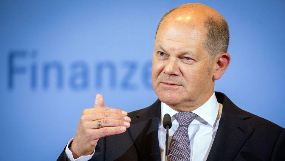 Bundesfinanzminister und Vizekanzler Olaf Scholz (SPD)