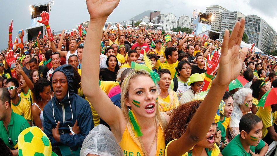Fanfest zur Fußball-WM in Rio de Janeiro 2014