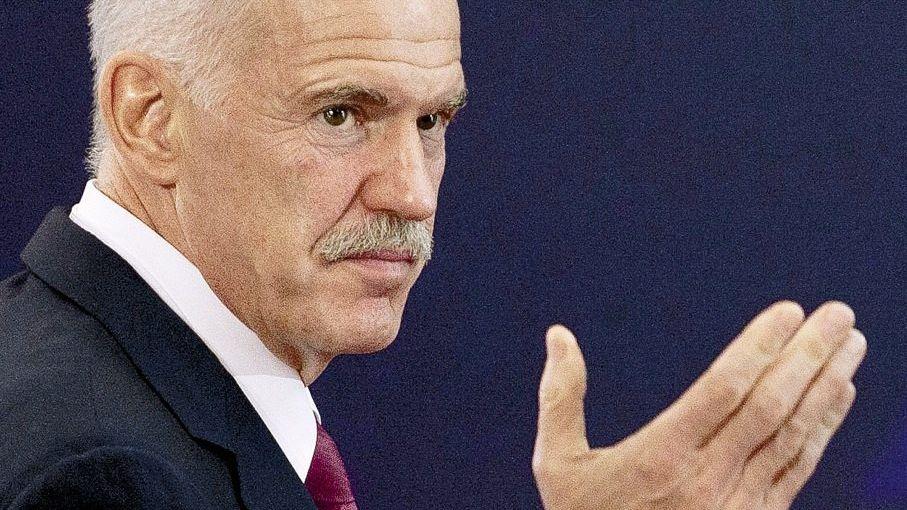 Sozialistenführer Papandreou