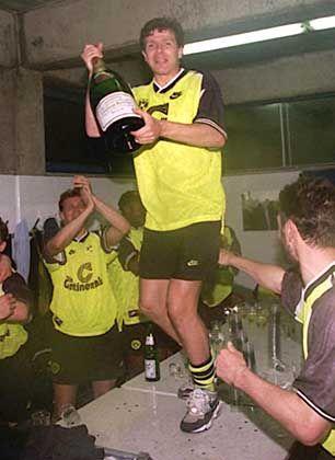 Möller und Kollegen feiern die Deutsche Meisterschaft 1996