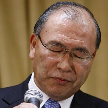 Verlierer: Toshiba-Boss Atsutoshi Nishida gesteht die Niederlage der HD DVD ein