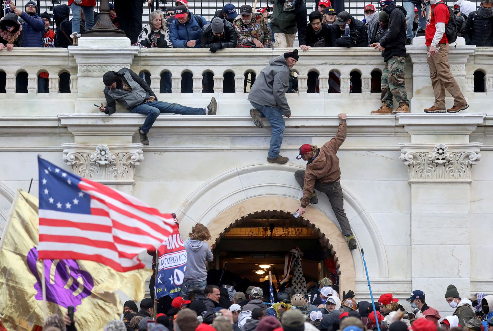 FILE PHOTO: The U.S. Capitol Building is stormed by a pro-Trump mob on January 6, 2021