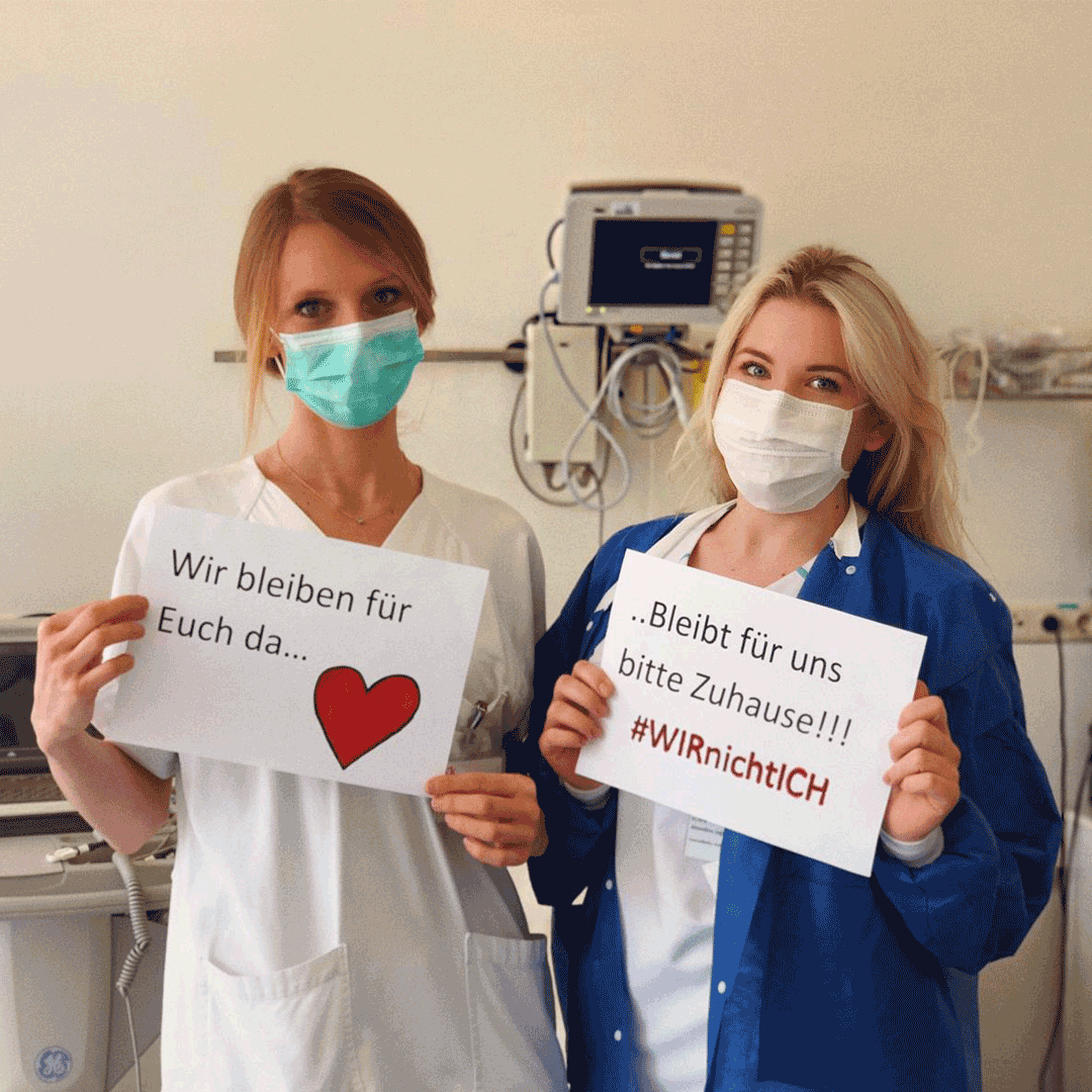 Corona-Virus/ Klinikangestellte/ Social Media