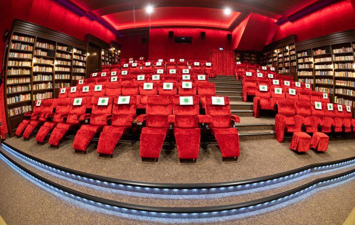 Corona-Einschränkungen in einem Kino in Hannover (Juli 2020)