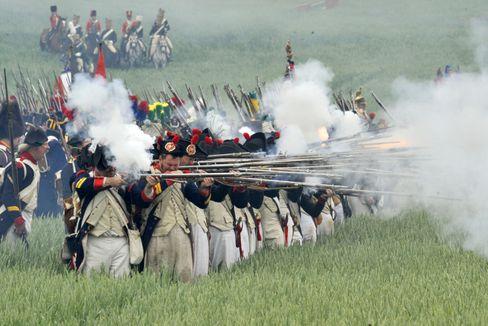 Schlacht von Waterloo (2010 nachgestellt): Schon unter Napoleon kamen Notärzte zum Einsatz