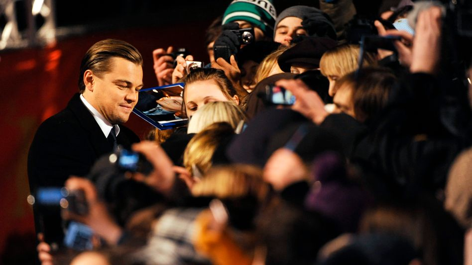 """The real Leonardo DiCaprio at a premiere in Berlin recently: The star did not plan to attend the German Prize for Dubbing in Potsdam this week, but his German """"voice"""" did."""