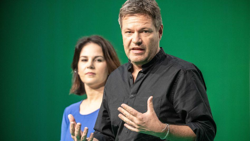 Grünen-Chefs Robert Habeck und Annalena Baerbock: Faustpfand Ökopolitik