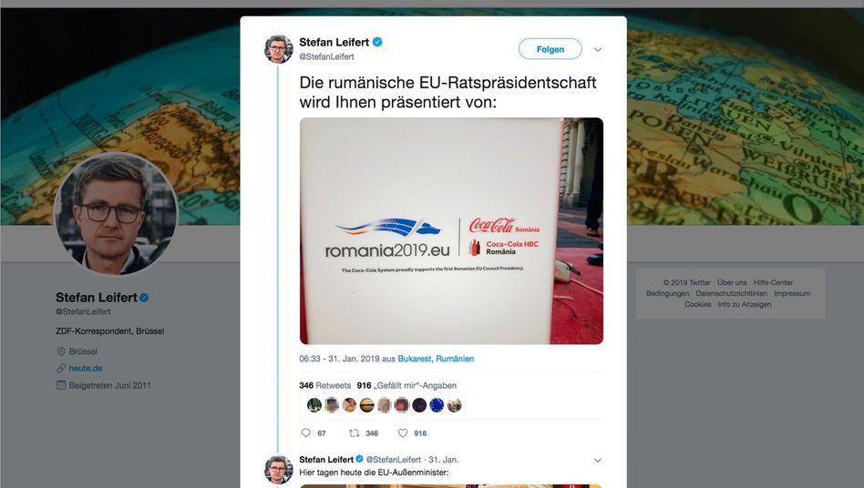 Tweet zum Coca-Cola-Sponsorings