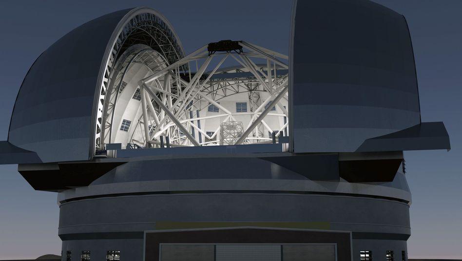 European Extremely Large Telescope (Grafik): Der Bau soll noch dieses Jahr beginnen